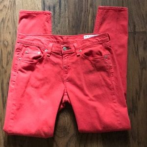 rag & bone JEANS Colored Skinny Red Clay